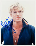 Movie/TV Memorabilia:Autographs and Signed Items, A Robert Redford Signed Color Photo from The Way We Were....