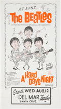 Music Memorabilia:Posters, Beatles Flier For A Hard Day's Night With Alternate Art....