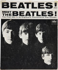 Music Memorabilia:Posters, Meet The Beatles! Rare Bin Card Display (1964)....