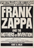 Music Memorabilia:Posters, Frank Zappa and the Mothers Of Invention Dutch Concert Poster (1974)....