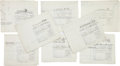 "Movie/TV Memorabilia:Documents, A Large Collection of Architectural Drawings of Sets from the Alfred Hitchcock Film ""Torn Curtain.""..."