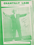 "Music Memorabilia:Autographs and Signed Items, The Big Bopper Signed Sheet Music for ""Chantilly Lace"" (1958)...."