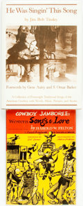 Books:Music & Sheet Music, Jim Bob Tinsley. He Was Singin' This Song. Orlando: University Presses of Florida, [1981]. Publisher's full brown cl... (Total: 2 Items)