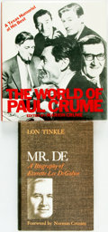Books:Biography & Memoir, [Texana.] Marion Crume, editor. The World of Paul Crume.Dallas: SMU Press, [1980]. [together with:] Lon Tinkle. ... (Total:2 Items)