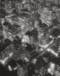 Photographs, BERENICE ABBOTT (American, 1898-1991). New York at Night, 1932. Gelatin silver, printed later. 13-1/2 x 10-5/8 inches (3...