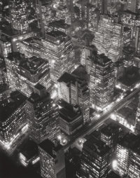 BERENICE ABBOTT (American, 1898-1991) New York at Night, 1932 Gelatin silver, printed later 13-1/