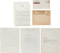 "Movie/TV Memorabilia:Documents, A Group of Documents Related to ""Gone With The Wind.""..."