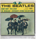 Music Memorabilia:Recordings, 4-By The Beatles Sealed EP (Capitol 5365, 1965). ...
