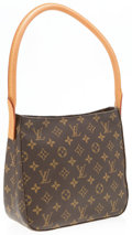 """Luxury Accessories:Accessories, Louis Vuitton Classic Monogram Canvas Looping PM Shoulder Bag. Very Good Condition. 9.5"""" Width x 8"""" Height x 4"""" Depth..."""