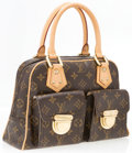 "Luxury Accessories:Accessories, Louis Vuitton Classic Monogram Canvas Manhattan PM Bag. VeryGood to Excellent Condition. 12"" Width x 7.5"" Height x4""..."