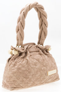 "Louis Vuitton Beige Monogram Leather Olympe Bag Good to Very Good Condition 13"" Width x 10"" Heigh"