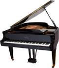 Movie/TV Memorabilia:Instruments , A Liberace Owned and Played Baldwin Model R Grand Piano, 1980s...