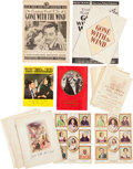 "Movie/TV Memorabilia:Documents, A Collection of Books, Programs, and Flyers from ""Gone With TheWind.""..."