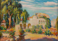 Fine Art - Painting, American:Modern  (1900 1949)  , CHRISTIAN VON SCHNEIDAU (American, 1893-1976). San JuanCapistrano. Oil on canvas. 26 x 36 inches (66.0 x 91.4 cm).Sign...