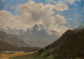 Western, ALBERT BIERSTADT (American, 1830-1902). Sunny Day. Oil on paper laid on board. 14 x 19-1/4 inches (35.6 x 48.9 cm). Sign...