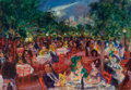 Fine Art - Painting, American:Contemporary   (1950 to present)  , ROBERT PHILIPP (American, 1895-1981). Central Park Tavern,1967. Oil on canvas. 23 x 33-1/8 inches (58.4 x 84.1 cm). Sig...