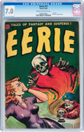 Golden Age (1938-1955):Horror, Eerie #17 (Avon, 1954) CGC FN/VF 7.0 Cream to off-white pages....