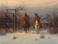 Fine Art - Painting, American:Contemporary   (1950 to present)  , G. (GERALD HARVEY JONES) HARVEY (American, b. 1933). ComeQuitting Time, 1979. Oil on canvas. 18 x 24 inches (45.7 x61....