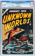 Golden Age (1938-1955):Science Fiction, Journey Into Unknown Worlds #32 (Atlas, 1954) CGC FN 6.0 Off-whitepages....