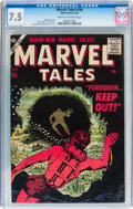 Golden Age (1938-1955):Science Fiction, Marvel Tales #156 (Atlas, 1957) CGC VF- 7.5 Cream to off-whitepages....