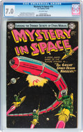 Golden Age (1938-1955):Science Fiction, Mystery in Space #19 (DC, 1954) CGC FN/VF 7.0 Off-white pages....
