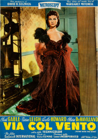 "A Collection of Locandina Posters from ""Gone With The Wind."""