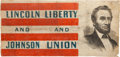 Political:Textile Display (pre-1896), Abraham Lincoln: A Stunning, Unique Flag Banner from the 1864Election....