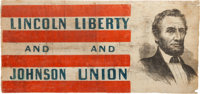 Abraham Lincoln: A Stunning, Unique Flag Banner from the 1864 Election