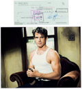 Movie/TV Memorabilia:Autographs and Signed Items, A Warren Beatty Signed Check. ... (Total: 2 )