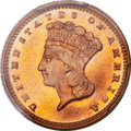 Gold Dollars, 1875 G$1 MS66 PCGS Secure. CAC....