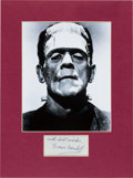 Movie/TV Memorabilia:Autographs and Signed Items, Boris Karloff Signature with Photo....