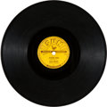 "Music Memorabilia:Recordings, Elvis Presley ""Mystery Train/ I Forgot to Remember to Forget"" 78 Single (Sun 223, 1955)...."