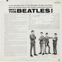Beatles Signed Meet The Beatles LP Obtained on February 9, 1964, by George Harrison's Doctor