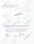 "Movie/TV Memorabilia:Autographs and Signed Items, A Cast Signed Script Cover from ""Lost.""..."