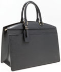 "Luxury Accessories:Accessories, Louis Vuitton Black Epi Leather Riviera Top Handle Bag. Good toVery Good Condition. 14"" Width x 9.5"" Height x 7"" Dep..."