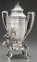 Silver Holloware, American:Hot Water Kettles , A BIGELOW BROS. & KENNARD SILVER SAMOVAR, Boston,Massachusetts, circa 1866. Marks: BIGELOW BROS. & KENNARD,BOSTON, STERL...