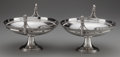 Silver Holloware, American:Compotes, A PAIR OF GORHAM SILVER FIGURAL FOOTED COMPOTES, Providence, RhodeIsland, circa 1870-1871. Marks: (lion-anchor-G), STERLI...(Total: 2 )