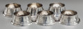 Silver Smalls:Other , A SET OF SIX LEBOLT & CO. SILVER OPEN SALTS, Chicago, Illinois,circa 1920. Marks: (L-lion rampant), LEBOLT, HAND BEATEN, ...(Total: 6 )