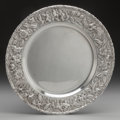 Silver Holloware, American:Plates, A KIRK & SON CO. SILVER PLATE, Baltimore, Maryland, circa1896-1924. Marks: S. KIRK & SON CO., STERLING 925/1000,38. 11...