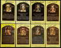Baseball Collectibles:Others, Baseball Greats Signed Hall of Fame Plaque Postcards Lot of 37....