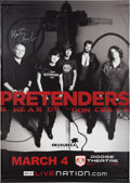 Music Memorabilia:Autographs and Signed Items, Pretenders Dodge Theatre Concert Signed Oversized Vinyl Banner(2008)....