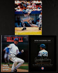 Baseball Collectibles:Others, Ryne Sandberg Signed Memorabilia Lot of 3....