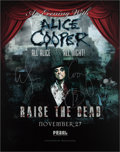 Music Memorabilia:Autographs and Signed Items, Alice Cooper Signed Tour Poster (2013)....
