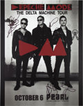 Music Memorabilia:Autographs and Signed Items, Depeche Mode Signed Tour Poster (2013)....