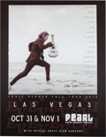Music Memorabilia:Autographs and Signed Items, Eddie Vedder Signed Las Vegas Concert Poster (2012)....