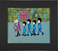 Music Memorabilia:Original Art, Beatles Cartoon Series Original Animation Cels and Background Art....