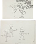 Music Memorabilia:Original Art, Beatles Cartoon Series Original Production and Promotional Materials....