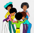 Animation Art:Production Cel, Jackson 5ive Production Cel Setup and Animation DrawingGroup (Rankin-Bass, 1972).... (Total: 6 Items)
