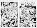 Original Comic Art:Splash Pages, Bruce Zick and Mike DeCarlo Thor #464 Page 9 and 10 OriginalArt Group (Marvel, 1993). ... (Total: 2 Original Art)
