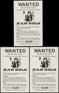 "Movie Posters:Science Fiction, Star Wars Wanted Poster (1970s). Unlicensed Posters (3) (11"" X17.5""). Science Fiction.. ..."